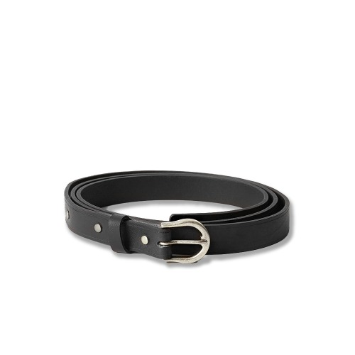 [YOUTH] Long Leather Belt (Black)