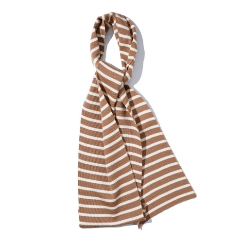 [SAINT JAMES] Scarf Raye (Camel/Ecru)