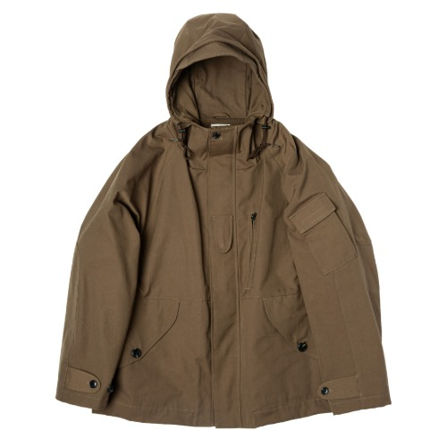 [rough side] Rocky Smock Parka (Brown)