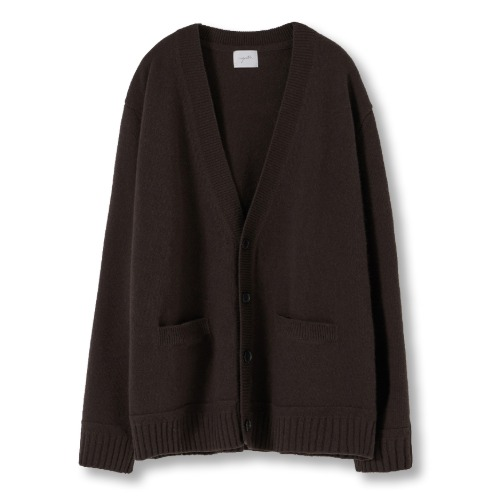 [YOUTH] Oversized Cardigan (Dark Brown)