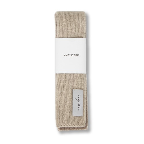 [YOUTH] Knit Scarf (Beige)