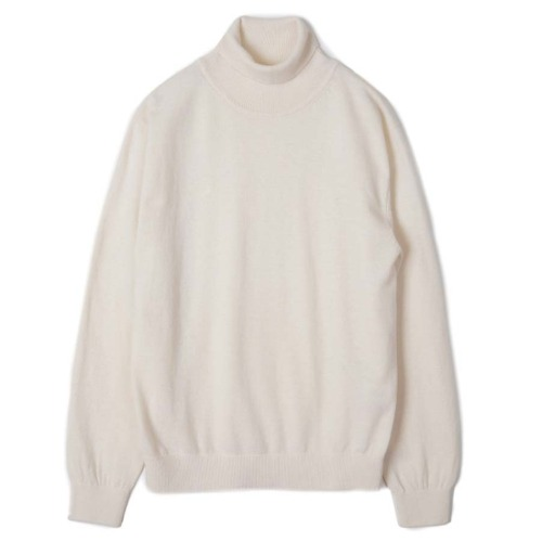 [TRICOTER] Cashmere Blend Rollneck Sweater (Ivory)