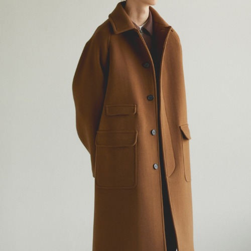 [art if acts] Balmacaan Coat (Brown)
