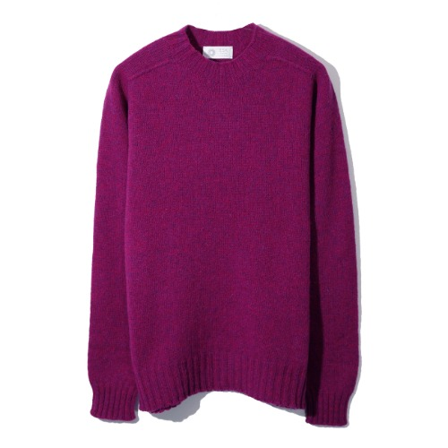 [Esk Valley Knitwear] Andy Seamless Shetland (Loganberry)