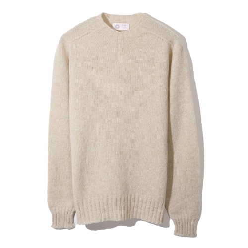 [Esk Valley Knitwear] Andy Seamless Shetland (Almond)