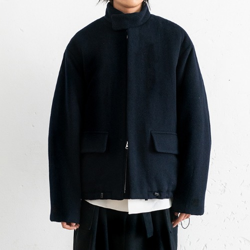 [polyteru] Wool Puffer Jacket (Navy)