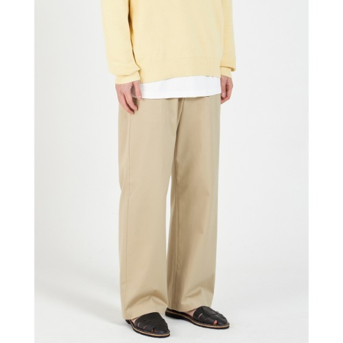 [YOUTH] Wide Chino Pants (Beige)
