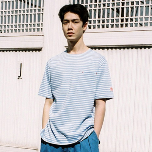 [HORLISUN] Union Short Sleeve Pocket T-shirts SU Seasonal (Blue)