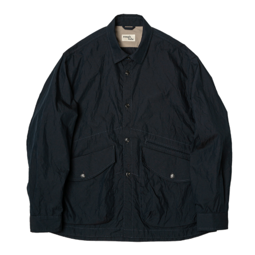 [rough side] Crease Jacket (Navy)