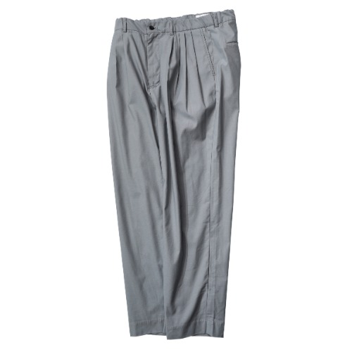 [STILL BY HAND] 4 Tuck Slim Tapered Pants (Blue Grey)