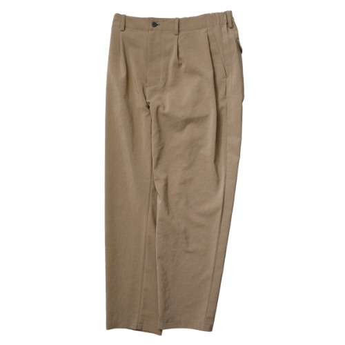 [STILL BY HAND] Deep Tuck Easy Pants (Beige)