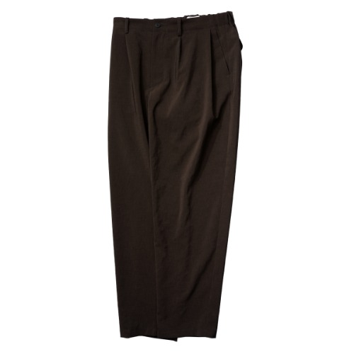 [STILL BY HAND] Deep Tuck Easy Pants (Brown)