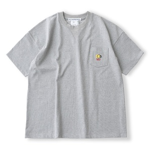 [DAILY INN] ROOM SMILE WIDE TEE WITH POCKET - Heavy Weight (Grey)