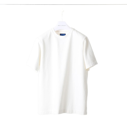 [DOCUMENT] Side Print Heavy Weight Crew Neck (White)