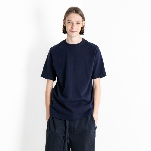 [DOCUMENT] Side Print Heavy Weight Crew Neck (Navy)